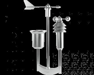 Het weerstation wordt geleverd inclusief roestvrijstalen mast van 1,58m lang. De mast is 2,5cm dik.