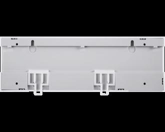 De zoneregelaar kan gemonteerd worden aan twee schroeven, of kan eenvoudig bevestigd worden op een DIN-rail.