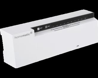 De zoneregelaar wordt aangestuurd door draadloze Homematic IP thermostaten en temperatuursensoren in verschillende kamers in huis.