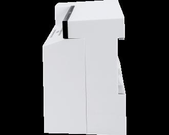 Het ontwerp van de zoneregelaar is slank en compact. De afmetingen zijn 22,5 x 7,5 x 5,2 cm.