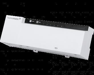 De Homematic IP zoneregelaar maakt het mogelijk om lage temperatuur vloerverwarming individueel per kamer aan te sturen. Er kunnen meerdere zoneregelaars toegepast worden in een huis.