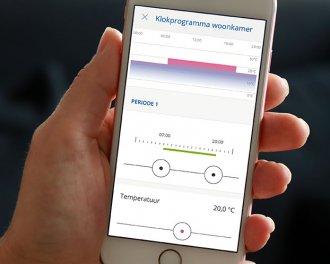 Een temperatuur klokprogramma is handig en snel in te stellen met de innogy SmartHome app. Er zijn programma's voor de hele week, per werkweek of per dag beschikbaar.