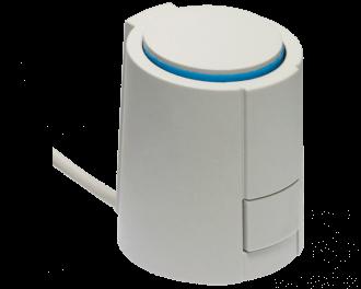 Een thermische motor regelt één groep van de vloerverwarming. Heeft de vloerverwarming verdeler 10 groepen, dan zijn er 10 thermische motoren nodig. Bestel ook 10 bijpassende afsluiter adapters.