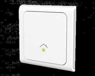 De SmartHome drukknop is een draadloze plakschakelaar op batterijen, als extra lichtschakelaar of schakelaar voor apparaten