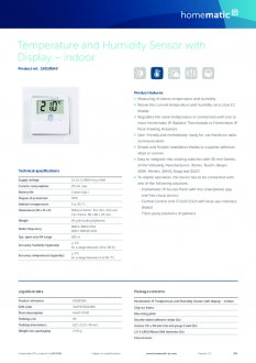 Datasheet van Homematic IP Temperatuursensor met display