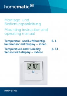 Handleiding van Homematic IP Temperatuursensor met display