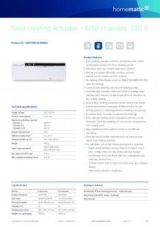Datasheet van Homematic IP Zoneregelaar 6 kanalen - 230V