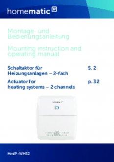 Handleiding van Homematic IP CV-ketel en warmtebron module