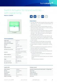 Datasheet van Homematic IP Schakelaar met signaallamp