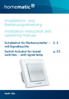 Handleiding van Homematic IP Schakelaar met signaallamp