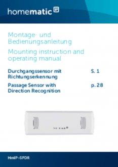 Handleiding van Homematic IP Doorgangsmelder met richtingdetectie