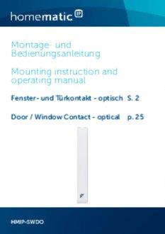 Handleiding van Homematic IP Raam- en deursensor