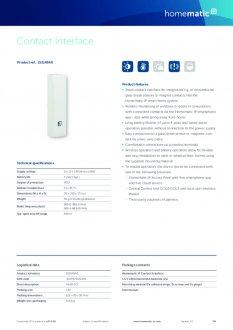Datasheet van Homematic IP Input module opbouw