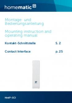Handleiding van Homematic IP Input module opbouw