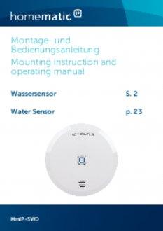 Handleiding van Homematic IP Water- en vochtsensor
