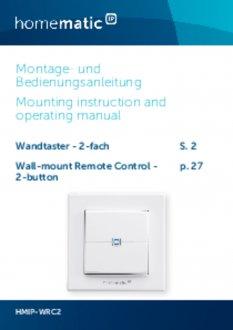 Handleiding van Homematic IP Draadloze drukknop met 2 knoppen