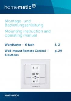 Handleiding van Homematic IP Draadloze drukknop met 6 knoppen