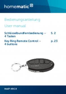 Handleiding van Homematic IP Sleutelhanger afstandsbediening