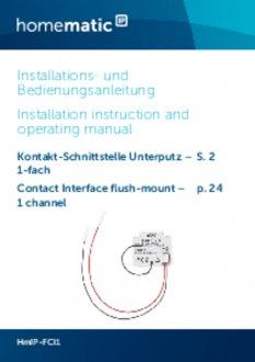 Handleiding van Homematic IP Input module inbouw enkelvoud