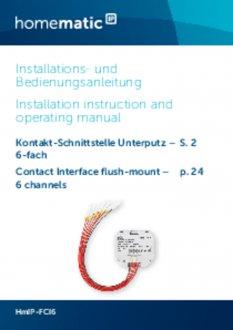 Handleiding van Homematic IP Input module inbouw zesvoud