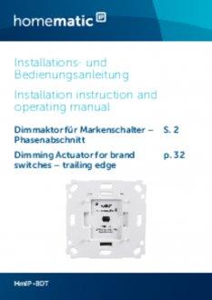 Handleiding van Homematic IP Dimmer voor merk-wipvlak