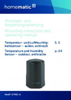 Handleiding van Homematic IP Temperatuur en luchtvochtigheid sensor buiten - zwart