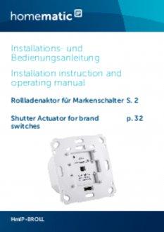 Handleiding van Homematic IP Rolluik en zonwering schakelaar voor merk-wipvlak