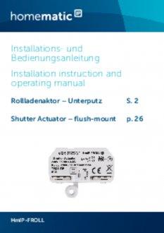 Handleiding van Homematic IP Inbouw rolluik en zonwering schakel module