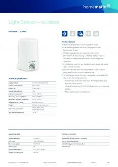 Datasheet van Homematic IP Lichtsterkte sensor buiten
