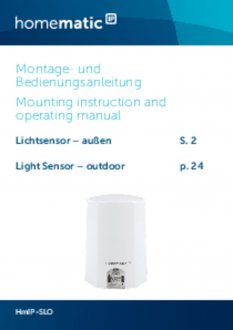 Handleiding van Homematic IP Lichtsterkte sensor buiten