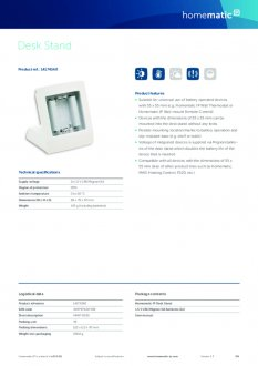 Datasheet van Homematic IP Tafelstandaard