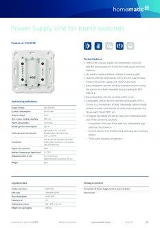 Datasheet van Homematic IP Inbouw voeding
