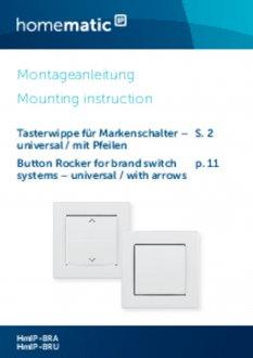 Handleiding van Homematic IP Universeel wipvlak met pijlen