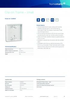 Datasheet van Homematic IP Smal montagevlak