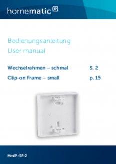 Handleiding van Homematic IP Smal montagevlak