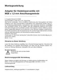 Handleiding van Homematic IP M28 thermostaatknop afsluiter adapter