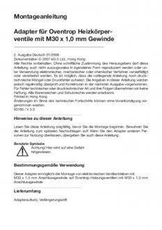 Handleiding van Homematic IP Oventrop thermostaatknop afsluiter adapter