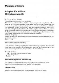 Handleiding van Homematic IP Vaillant thermostaatknop afsluiter adapter