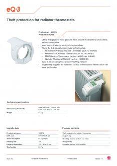 Datasheet van Homematic IP Diefstal beveiliging voor thermostaatknop