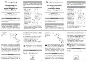 Handleiding van Homematic IP Diefstal beveiliging voor thermostaatknop