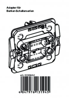 Handleiding van Homematic IP Berker 1 wipvlak adapter