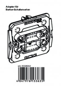 Handleiding van Homematic IP Berker 2 wipvlak adapter