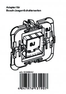 Handleiding van Homematic IP Busch Jaeger wipvlak adapter