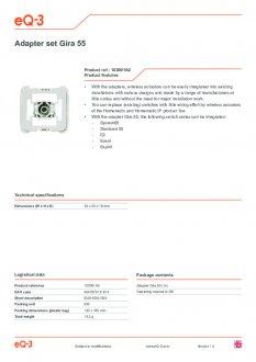 Datasheet van Homematic IP Gira wipvlak adapter