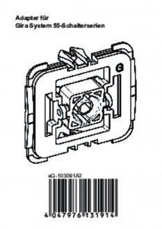 Handleiding van Homematic IP Gira wipvlak adapter