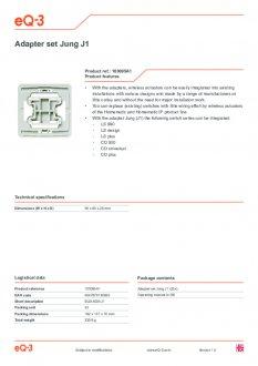 Datasheet van Homematic IP Jung 1 wipvlak adapter