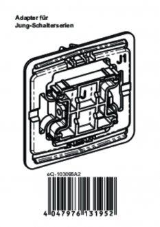 Handleiding van Homematic IP Jung 1 wipvlak adapter