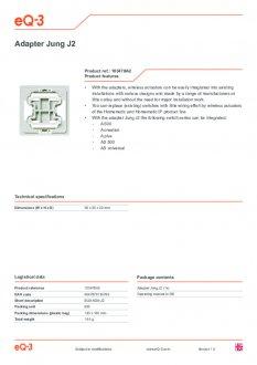 Datasheet van Homematic IP Jung 2 wipvlak adapter