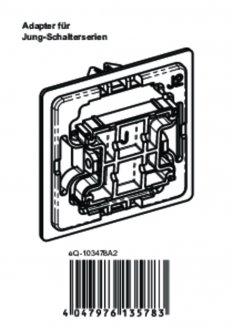 Handleiding van Homematic IP Jung 2 wipvlak adapter