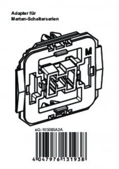 Handleiding van Homematic IP Merten wipvlak adapter